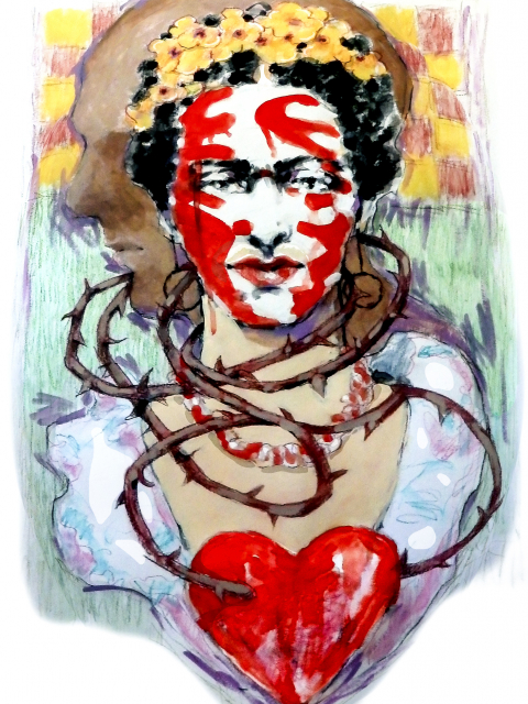 artwork print Frieda Broken Hearted 2