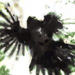 bird art print Magpie Attack