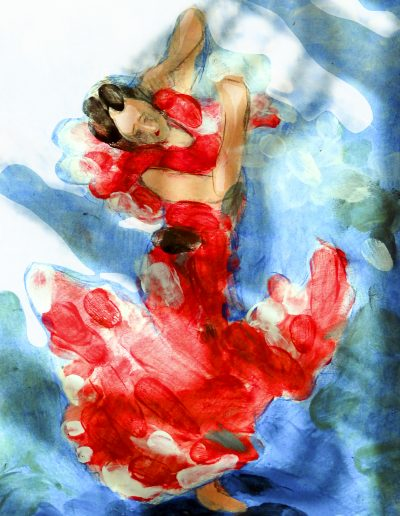 dance artwork print Spanish Dancer v2