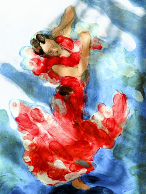 dance artwork print Spanish Dancer v2