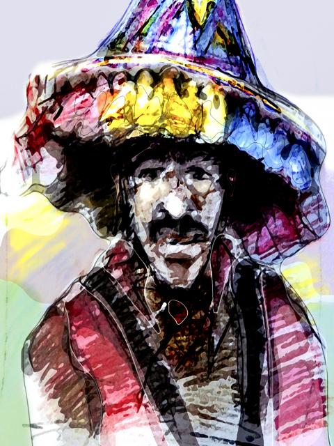 figurative art print Morrocan Man