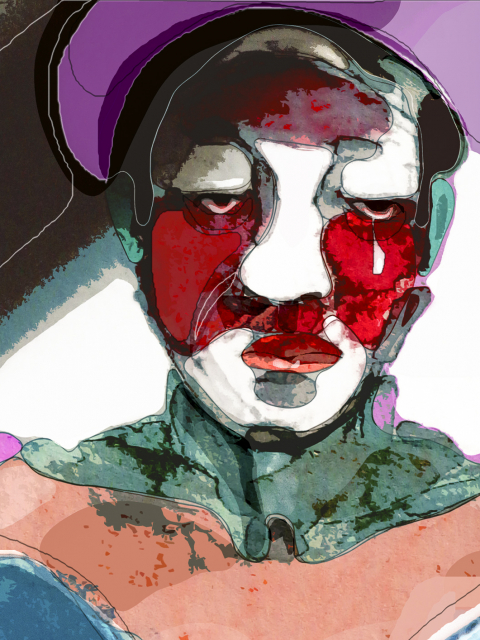 figurative art print The Tear