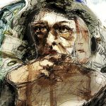 figurative art print Worried