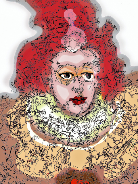 historical artwork print Suspicious Queen 3