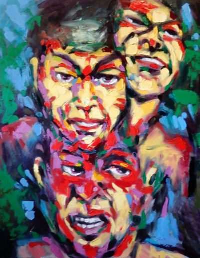 Hank Spirek painting artwork - Three Faces